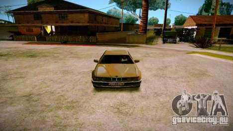 BMW 735il E32 1992 для GTA San Andreas вид изнутри