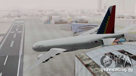 Boeing 777-200LR Philippine Airlines для GTA San Andreas вид слева