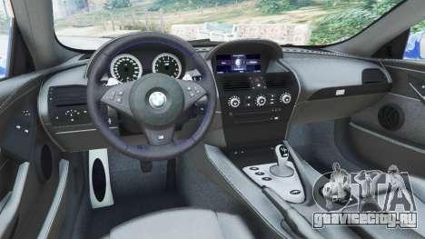 BMW M6 (E63) WideBody v0.1 [Pagid RS] для GTA 5 вид сзади