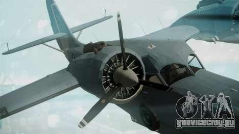 Grumman G-21 Goose Military для GTA San Andreas вид справа