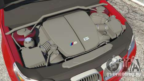 BMW M5 (E60) 2006 для GTA 5 вид сзади справа