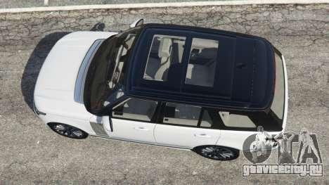 Range Rover Vogue 2013 v1.2 для GTA 5 вид сзади слева