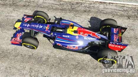 Red Bull RB8 [Себастьян Феттель] для GTA 5 вид сзади