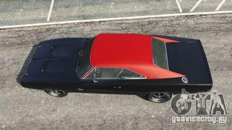 Dodge Charger RT 1970 v3.1 для GTA 5 вид сзади