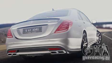 Mercedes-Benz W222 S63 AMG для GTA San Andreas вид слева