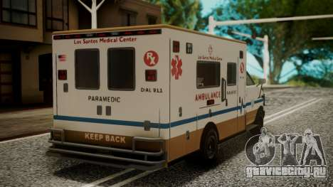 GTA 5 Brute Ambulance IVF для GTA San Andreas вид слева