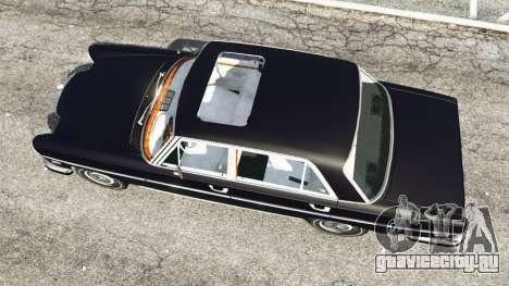 Mercedes-Benz 300SEL 6.3 v1.2.3 для GTA 5 вид сзади