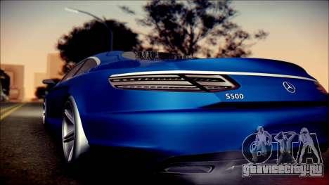 Mercedes-Benz S Coupe Vossen cv5 2014 для GTA San Andreas вид сзади слева