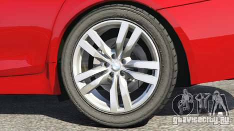 BMW 525d (F11) Touring 2015 (UK) для GTA 5 вид сзади справа