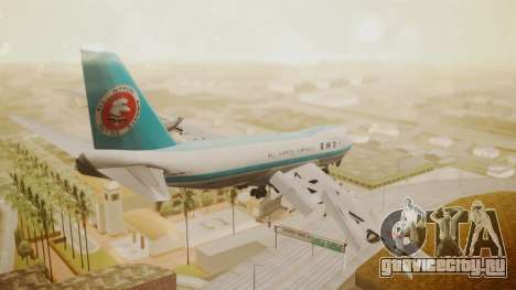Boeing 747-100 All Nippon Airways для GTA San Andreas вид слева