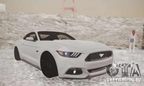 Ford Mustang GT 2015 Stock для GTA San Andreas вид слева