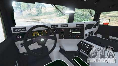Hummer H1 v2.0 для GTA 5 вид сзади справа
