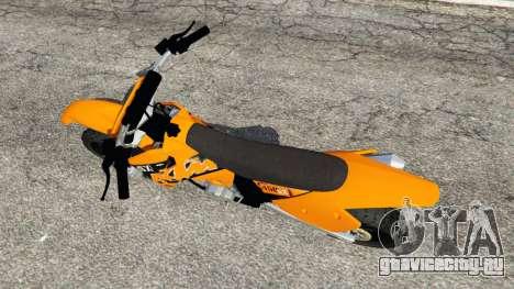 KTM 450SX Racing 2007 для GTA 5 вид сзади