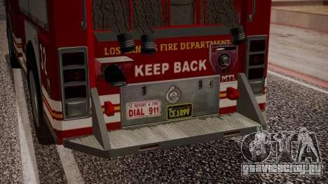 GTA 5 MTL Firetruck IVF для GTA San Andreas вид сверху