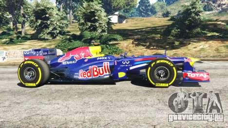 Red Bull RB8 [Себастьян Феттель] для GTA 5 вид слева