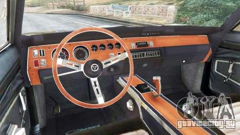 Dodge Charger RT 1970 v3.1 для GTA 5 вид справа