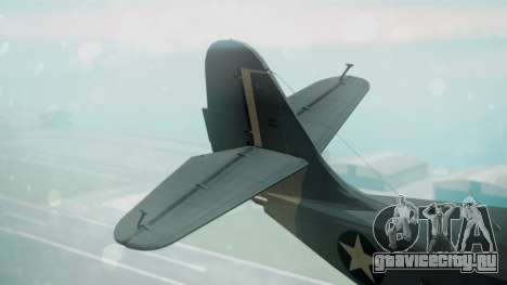 Grumman G-21 Goose Military для GTA San Andreas вид сзади слева