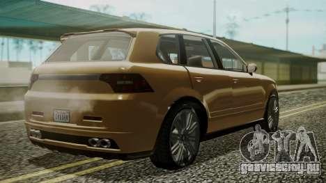 GTA 5 Obey Rocoto для GTA San Andreas вид слева