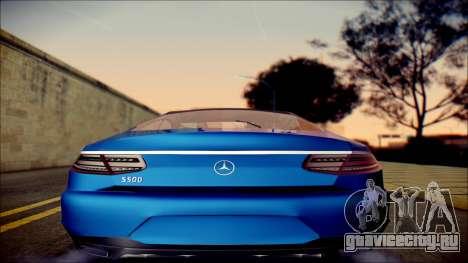 Mercedes-Benz S Coupe Vossen cv5 2014 для GTA San Andreas вид справа