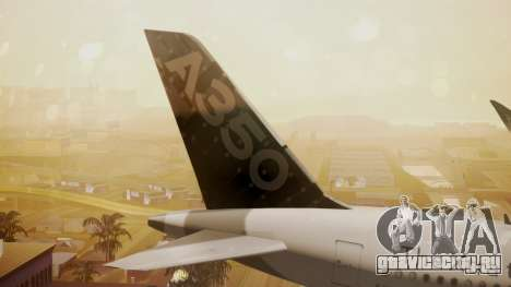 Airbus 350-900XWB Around The World для GTA San Andreas вид сзади слева