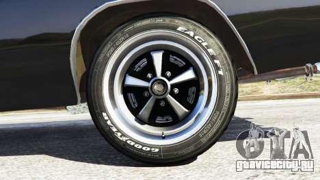 Dodge Charger RT 1970 v3.1 для GTA 5 вид сзади справа