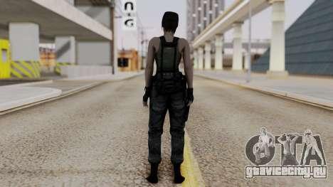 Resident Evil Remake HD - Jill Valentine (Army) для GTA San Andreas третий скриншот