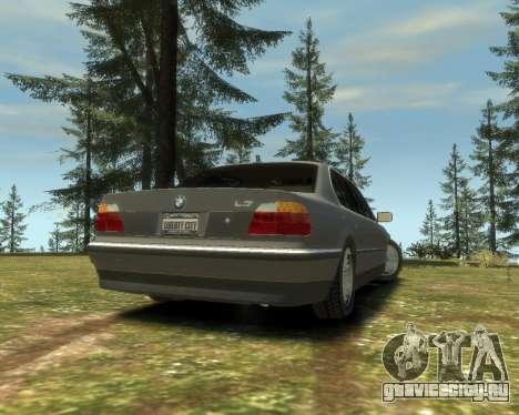 BMW L7 (750IL E38) 2001 для GTA 4 вид слева
