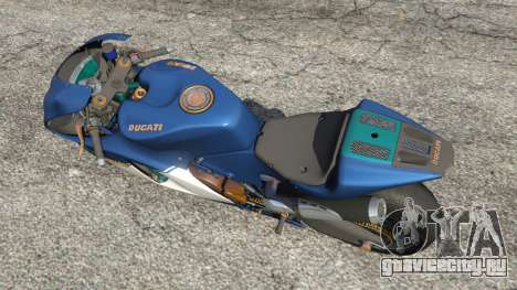 Ducati Desmosedici RR 2012 для GTA 5 вид сзади