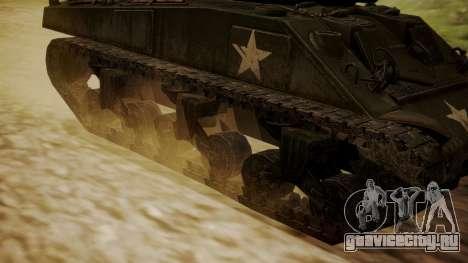 M4A3(76)W Sherman для GTA San Andreas вид сзади слева