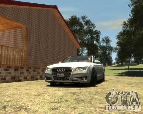Audi A8L W12 2013 для GTA 4 вид сзади слева