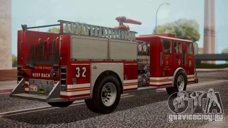GTA 5 MTL Firetruck IVF для GTA San Andreas вид слева