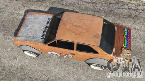 Ford Escort MK1 v1.1 [Hoonigan] для GTA 5 вид сзади
