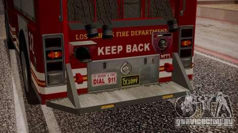 GTA 5 MTL Firetruck IVF для GTA San Andreas вид снизу