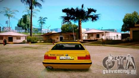 BMW 525tds E34 Russian Taxi для GTA San Andreas вид сзади слева