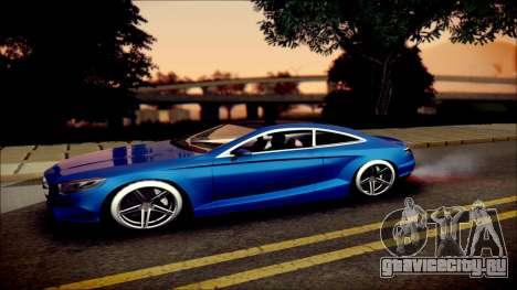 Mercedes-Benz S Coupe Vossen cv5 2014 для GTA San Andreas вид слева
