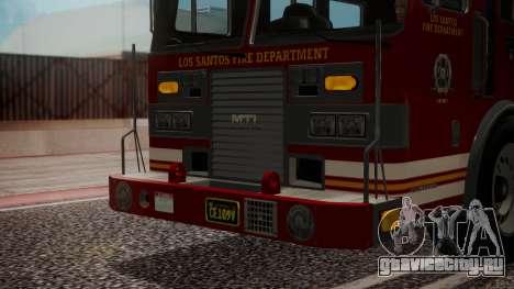 GTA 5 MTL Firetruck IVF для GTA San Andreas вид сбоку