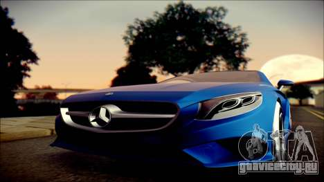 Mercedes-Benz S Coupe Vossen cv5 2014 для GTA San Andreas вид сзади