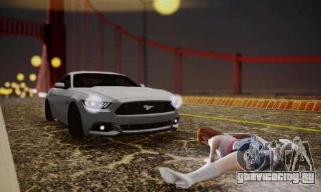 Ford Mustang GT 2015 Stock для GTA San Andreas вид изнутри