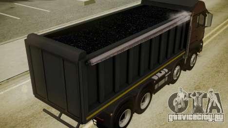 MAN TGS 8x4 Dumper для GTA San Andreas вид сзади