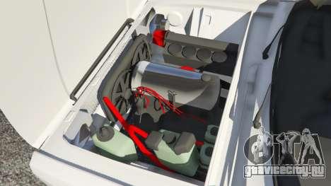 ВАЗ-2107 Redline 61 для GTA 5 вид сзади справа