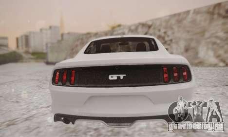 Ford Mustang GT 2015 Stock для GTA San Andreas вид сзади слева