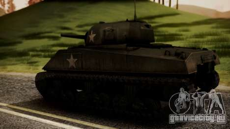 M4A3 Sherman для GTA San Andreas вид слева