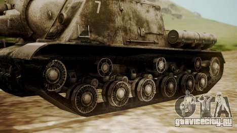 ISU-152 Snow from World of Tanks для GTA San Andreas вид сзади слева