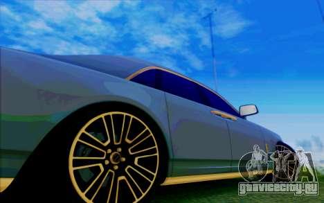 Rolls-Royce Ghost Mansory для GTA San Andreas вид снизу
