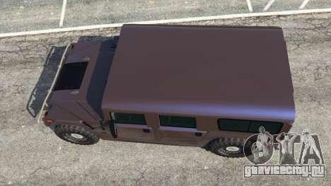 Hummer H1 v2.0 для GTA 5 вид сзади