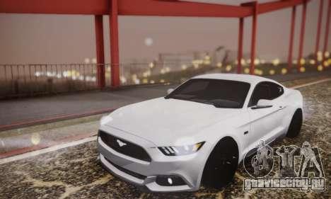 Ford Mustang GT 2015 Stock для GTA San Andreas вид сбоку