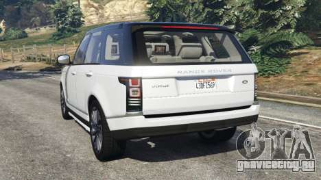 Range Rover Vogue 2013 v1.2 для GTA 5 вид слева