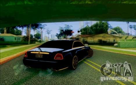 Rolls-Royce Ghost Mansory для GTA San Andreas вид сзади слева