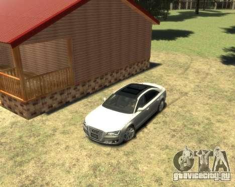 Audi A8L W12 2013 для GTA 4 вид слева