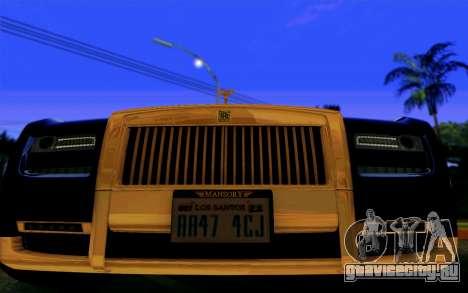 Rolls-Royce Ghost Mansory для GTA San Andreas вид сзади